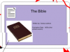 Bible –> The Black Parade
